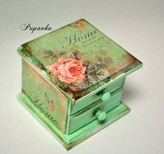 Krabičky - Mikučká ružičková komodka - 9008266_