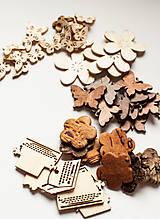 Polotovary - Drevené ozdôbky - rôzne druhy - 9009548_