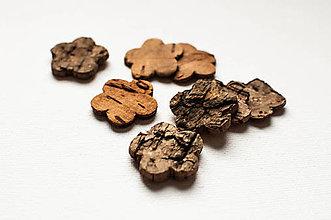 Polotovary - Drevené ozdôbky - rôzne druhy (Brezové kvietky) - 9009554_