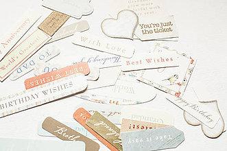 Papier - Mix papierových výrezov - 9009658_