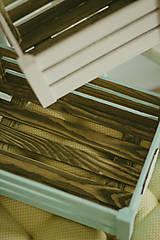 Nábytok - Pastelová bednička s ceduľkou - 9007925_