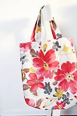 Nákupné tašky - Nákupná kvetovaná taška - 9007354_