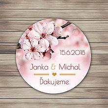 Darčeky pre svadobčanov - Kruh ružové kvietky - 9007587_