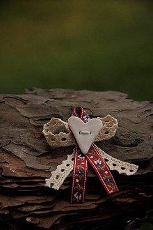 Pierka - Svadobné pierko ľudové červené - 9015047_