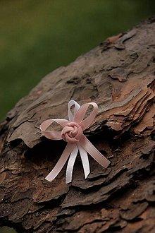 Pierka - Svadobné pierko ružovo biele - 9015055_