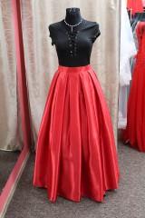 Sukne - Saténová sukňa - červená - 9013361_