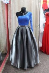 Sukne - Saténová sukňa - metalická sivá - 9013395_