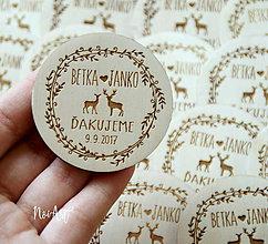 Magnetky - Magnetky pre svadobných hostí jelene - 9013728_