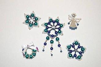 Dekorácie - Vianočné ozdôbky (Modrá) - 9012110_