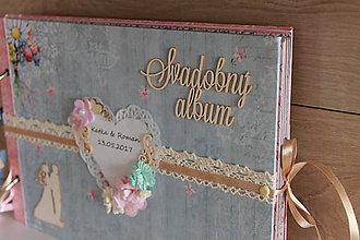 Papiernictvo - svadobný album_ modrý kvet - 9015028_