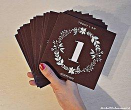 Detské doplnky - Míľnikové kartičky