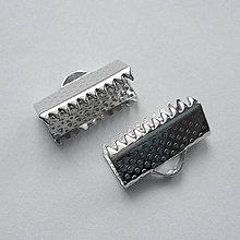 Komponenty - Koncovka na stužku-1ks (13mm-platina) - 9014897_