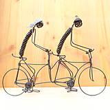 Dekorácie - Duo na tandemovom bicykli - 9013341_