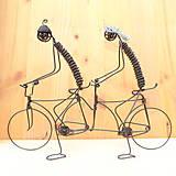 Dekorácie - Duo na tandemovom bicykli - 9013342_