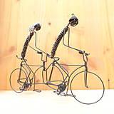 Dekorácie - Duo na tandemovom bicykli - 9013343_