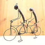 Dekorácie - Duo na tandemovom bicykli - 9013344_