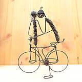 Dekorácie - Duo na bicykli - 9013351_
