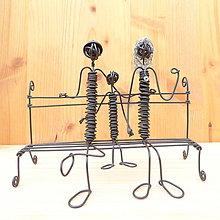 Dekorácie - Rodinka na lavičke - 9013242_