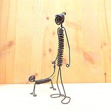 Dekorácie - Pán so psíkom - 9013317_