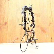 Dekorácie - Duo na bicykli - 9013349_