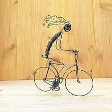 Dekorácie - Bláznivý cyklista - 9013558_