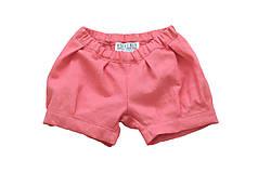Detské oblečenie - Kraťasky MIA koralové - 9013163_