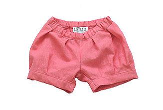 Detské oblečenie - Dievčenské ľanové kraťasky - 9013163_