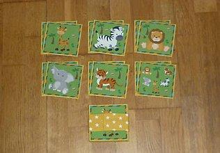 Hračky - Pexeso látkové ZVIERATKÁ - rôzne varianty (15) - 9014471_