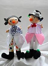 Maňuška. Dvaja klauni kamaráti Dibi a Gibi.