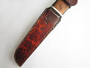 Nože - Kožené púzdro na nôž - 9014440_