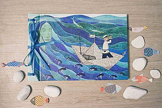 Papiernictvo - Fotoalbum klasický, polyetylénový potlačený obal ,,Vábenie morskej panny,, (dočasne nedostupné) - 9011405_
