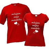 Milujem moju/môjho manželku/manžela - tričká pre pár