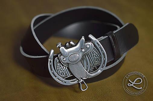 8158e2522 Kožený opasok - westernové sedlo / landsinger - SAShE.sk - Handmade ...