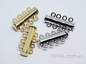 Komponenty - ZAP2501 magnetické zapínanie 25mm 1ks (Zlatá) - 9013035_