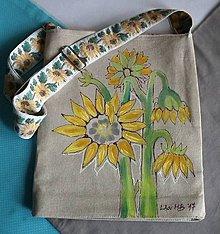 Kabelky - Maľovaná kabelka slnečnicová - 9013940_