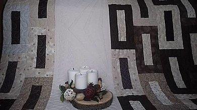Úžitkový textil - Prikrývka hnedo-béžová - 9012055_