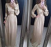 Šaty - Spoločenské elatické šaty s balónovými rukávmi rôzne farby - 9012569_