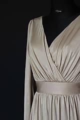 Šaty - Spoločenské elatické šaty s balónovými rukávmi rôzne farby - 9012572_