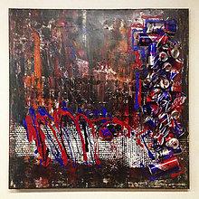 Obrazy - Obraz Abstract 100x100cm Torro Rosso - 9013950_