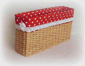 Košíky - Košík romantik v šedý 4  (40 x 10 výška 20 - Béžová) - 9012206_