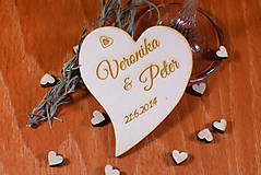 Svadobná magnetka drevená gravírovaná 120