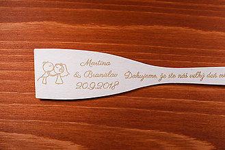 Darčeky pre svadobčanov - Vareška drevená gravírovaná darček svadobčanom 2 - 9013832_