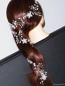 Ozdoby do vlasov - Girlanda do vlasov pre nevestu 75 x 6 cm - 9012780_