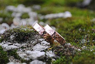 Prstene - Po daždi (tepané) obrúčky ružové zlaté - 9015240_