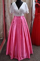 Sukne - Saténová sukňa - ružová - 9016642_