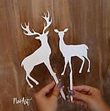 Dekorácie - Zápich jeleň a laň - 9018394_