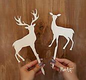 Dekorácie - Zápich jeleň a laň - 9018395_