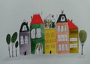 Obrazy - Skleník  16 ilustrácia  / originál maľba - 9018072_