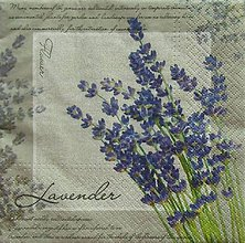 Papier - S1108 - Servítky - levandula, kytica, provance, vidiek - 9016186_