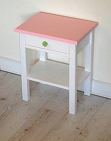 Nábytok - Nočný stolík Pink - 9019436_